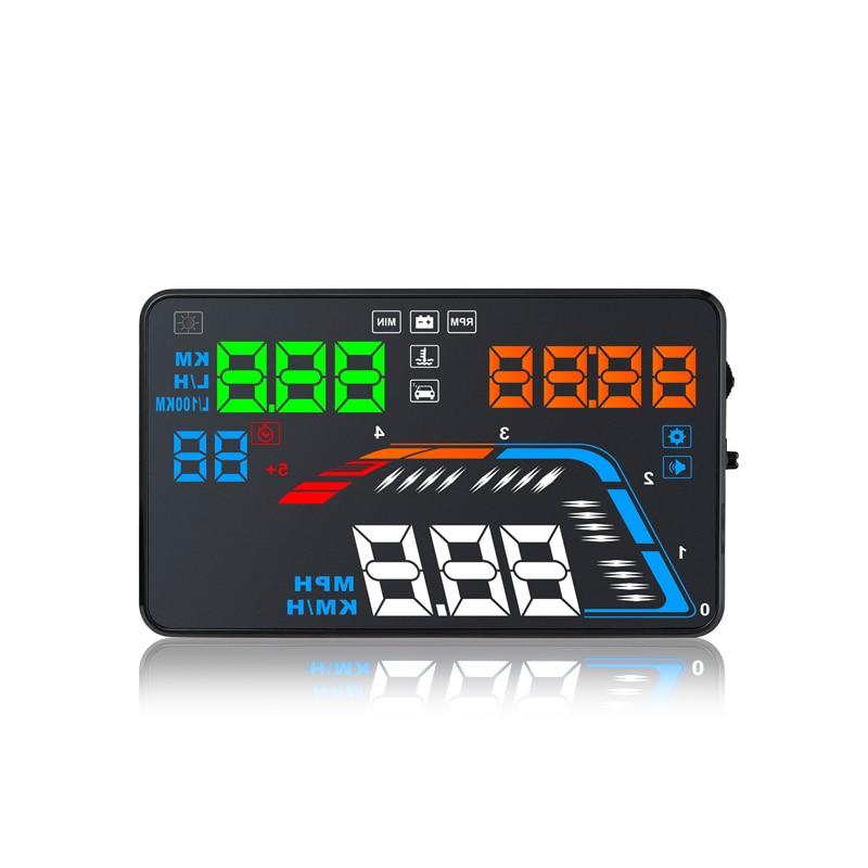 YASOKRO voiture HUD affichage tête haute OBD2 pare-brise projecteur compteur de vitesse sur la vitesse alarme de voiture RPM consommation de carburant outil de Diagnostic