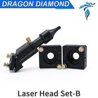 CO2 Engraver Cutter Laser Head B Set 20*50.8mm 63.5 Focal Focus Lens Mirror Integrative Mount Free Shipping