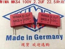 купить 2019 hot sale 10pcs/20pcs Germany WIMA MKS4 100V 2.2UF 225 100V 2U2 P: 22.5mm Audio capacitor free shipping по цене 885.13 рублей