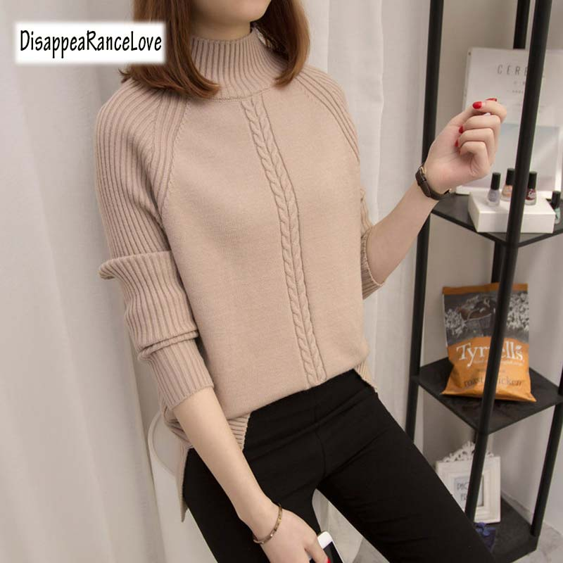 Turtleneck Sweater 2019 Women Vintage High Neck Wide Sleeve Knitted Thickening Warm Pullover Oversize Jumper Large Loose Sweater