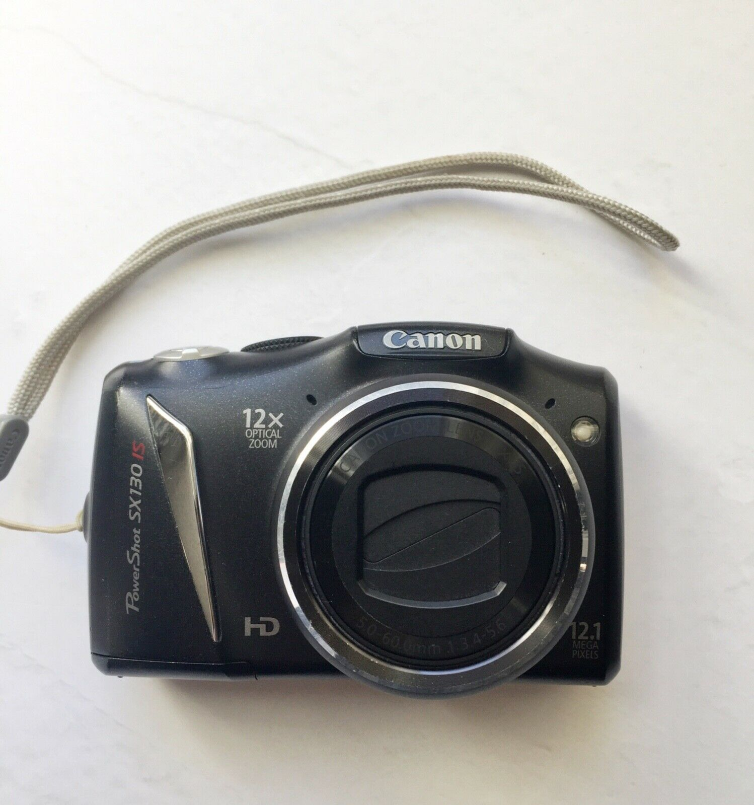 USED CANON Digital CAMERA POWERSHOT SX130 IS 12.1MP Digital 12x Optical Zoom + 8GB Memory Card Fully Tested