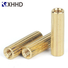M2 Brass Male Female Standoff Pillar Mount Threaded PCB Motherboard PC Computer Round Spacer Hollow Bolt Screw Long Nut m2 brass male female knurl standoff mount single round spacing pillar threaded pcb mountboard spacer hollow bolt screw m2xl 4mm