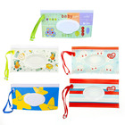 2 pcs Clutch and Clean Wipes Carrying Case Wet Wipes Bag Clamshell Cosmetic Pouch Wipes Container