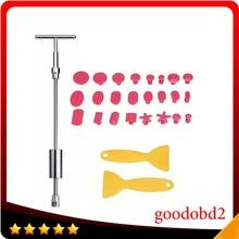 PDR Инструменты Комплект Ferramentas Дент Удаления Paintless Dent Repair Tools дент Съемник Slide Hammer Ручной Инструмент Набор с 24 шт. Клей вкладки