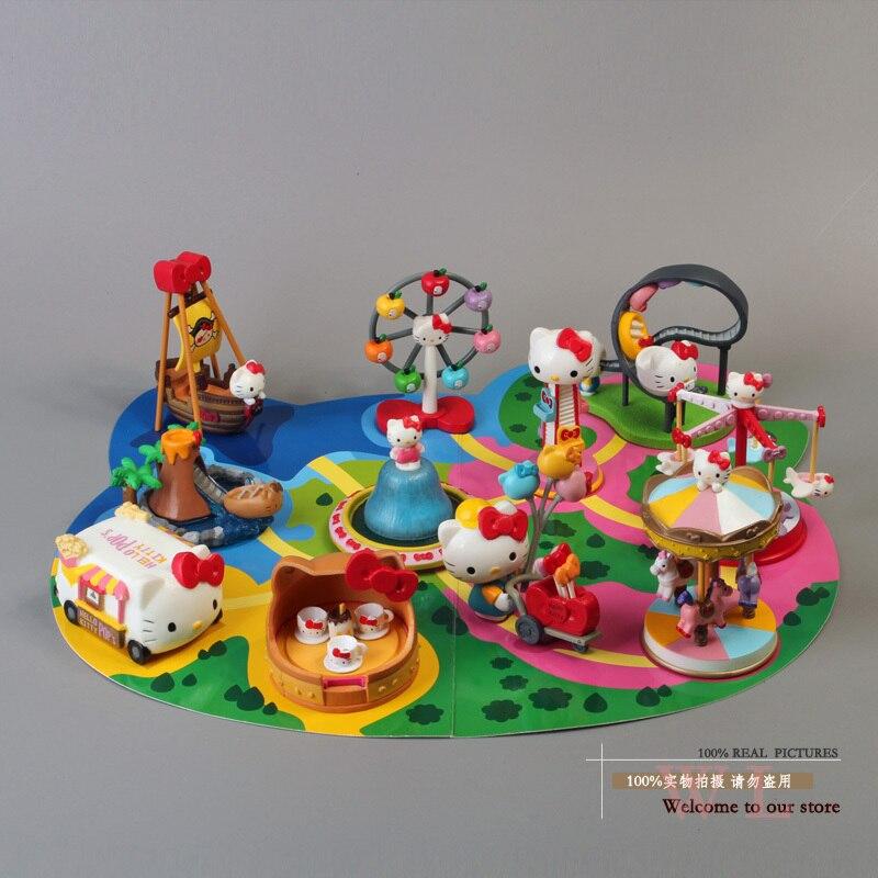 ღ ღEnvío Libre Lindo 11 unids/set Hello Kitty parque de ...