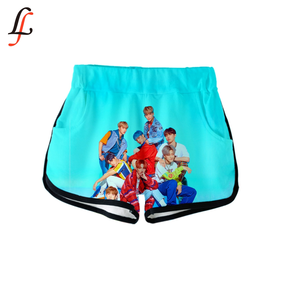 2019 K Pop New ATEEZ 3D Print Women Sexy Shorts Summer Casual Harajuku Gym Clothes Shorts Plus Size Homewear Hot Sale