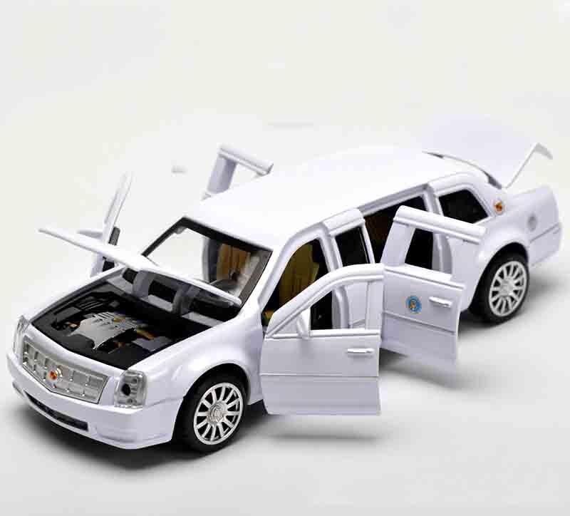 Высокая моделирования изысканные модели Игрушечные лошадки фабрики в президенты США Лимузин одна армия модель автомобиля для Cadillac DTS 1:32 с...