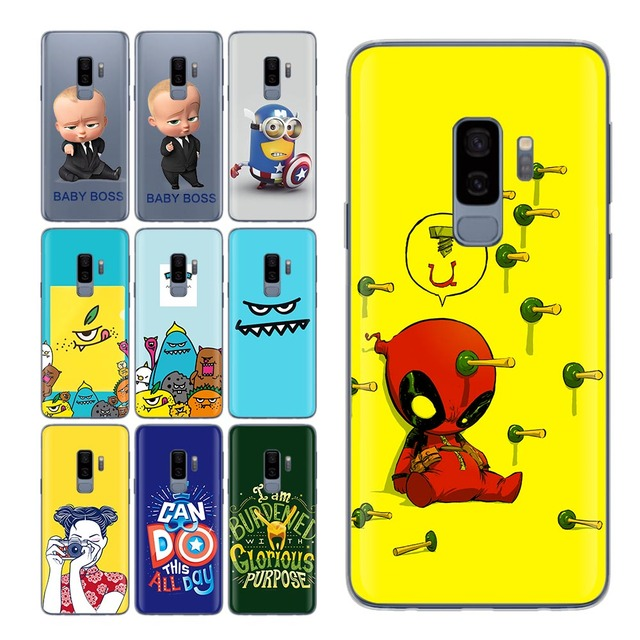 13744d3fd70 Coque For Samsung Galaxy S9 case baby boss for S8 Shell Cover Deadpool case for  Funda