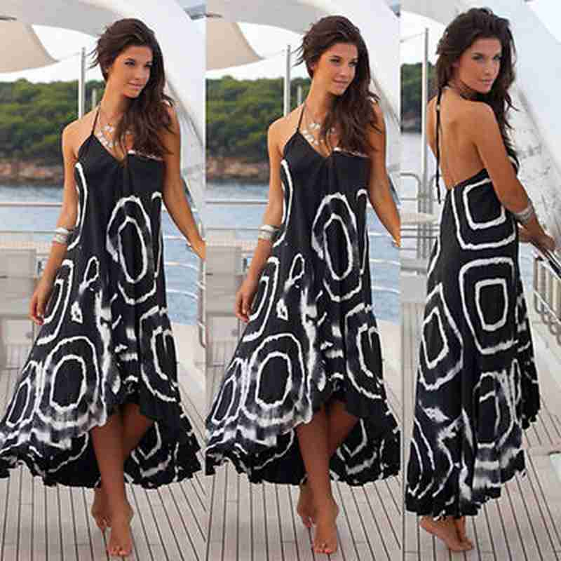 312e71c39bb Fashion Women Summer Boho Chiffon Sleeveless Party Evening Beach Dresses  Casual Long Maxi Dress Sundress