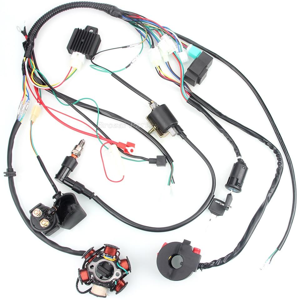 US $14.88 |50CC 110CC Mini 4 stroke ATV Complete Wiring Harness CDI on