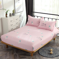 100% Cotton Fitted Sheet Pink fruit Mattress Cover single double queen king Bedding Bed Sheets sets With Elastic Band bedclothes