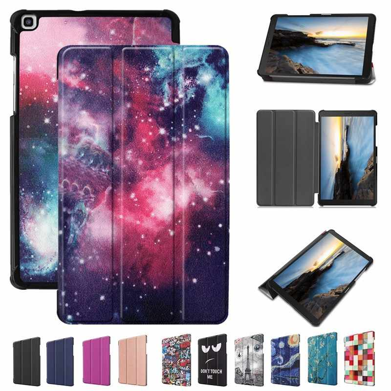 "3-Folded Case For Samsung Galaxy Tab A 8.0"" inch 2019 Magnetic Cover For Samsung SM-T290 SM-T295 Fundas Capa"