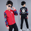 2017 Fashion High Quality New Products Cotton Products Boys Two-Piece Jacket + Pants Set Spring Autumn Children's Clothing Suit