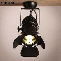 1 Pcs Smuxi Retro Minimalist LED Tracking Light Spot Light Ceiling Lamp 110V 220V Indoor Lighting