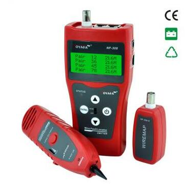 Free shipping, NOYAFA NF-308 Wire Fault Locator Lan cable tester Check wiring error in RJ45/BNC cable цена