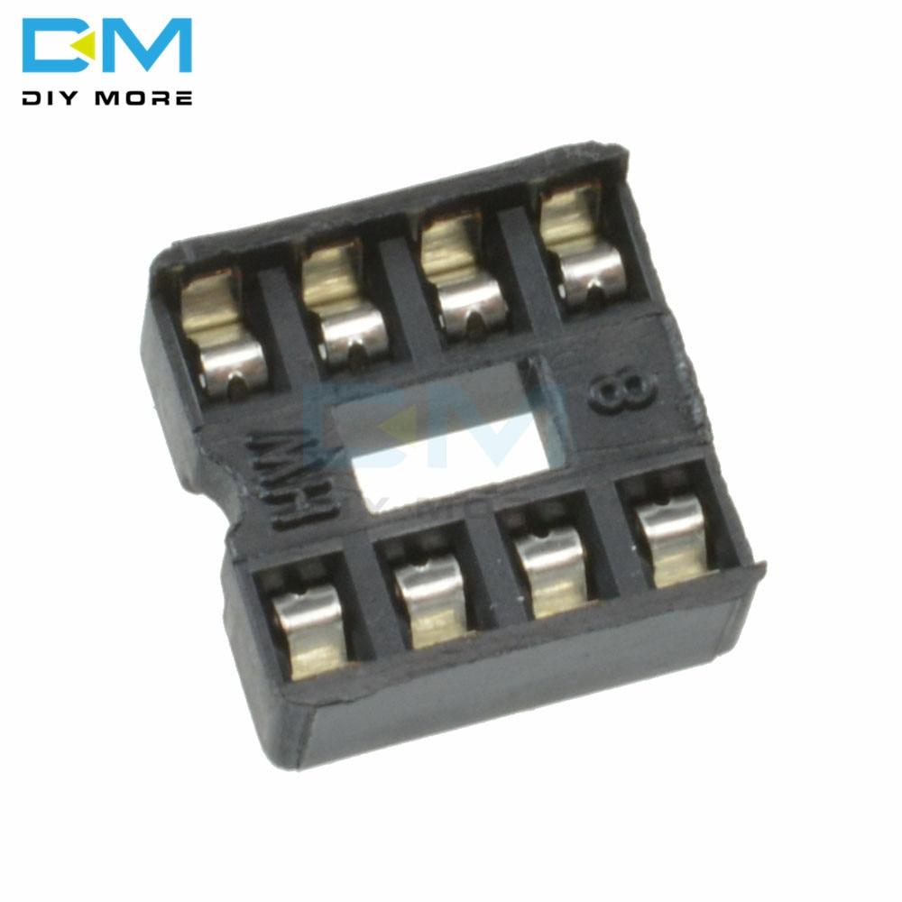 100PCS Lot 8pin 8 Pin DIP-8 8DIP 8 DIP IC Sockets Adaptor Solder Type 2.54MM