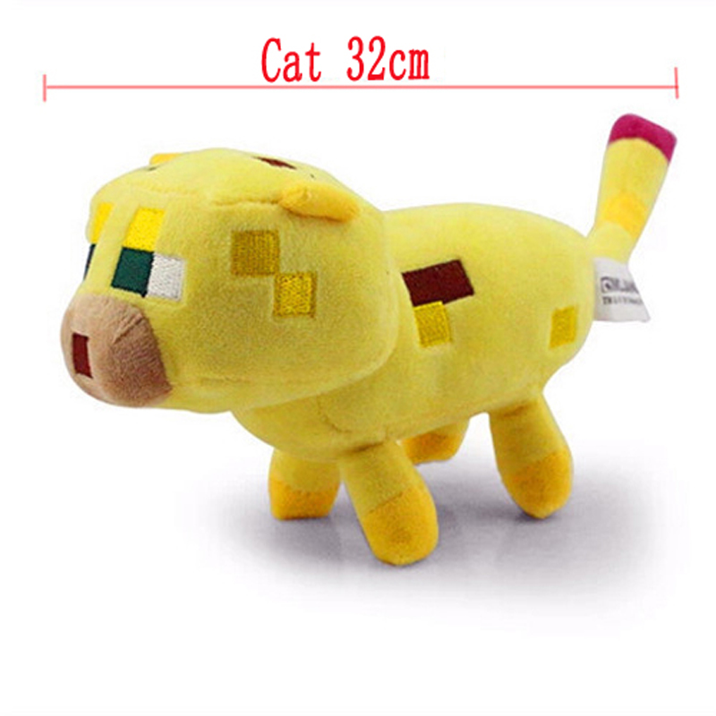 32cm Minecraft Plush Toy Big Yellow Minecraft Ocelot Cat Stuffed Plush Toys Brinquedos for Kids Toys