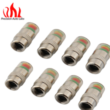 8 pcs 2.4 Bar Car Tyre Tire Air Pressure Monitoring System Warning Indicator Tire Valve Stem Caps for Auto Vehicle Truck