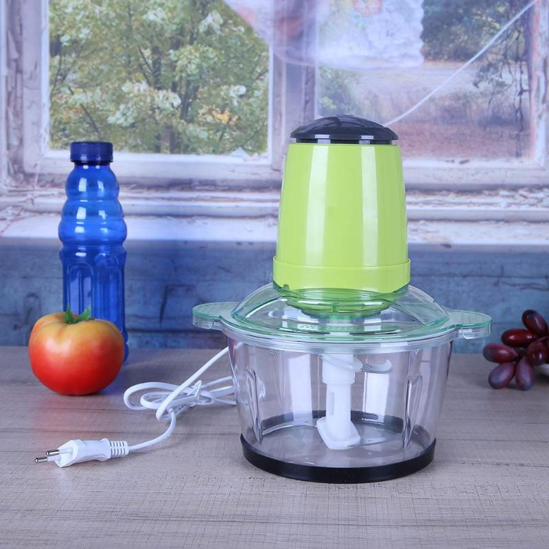 2L Meat Grinder Stainless Steel Multifunction Automatic Electric Household Food Chopper Processor 220V Meat Mincer Mixer EU Plug