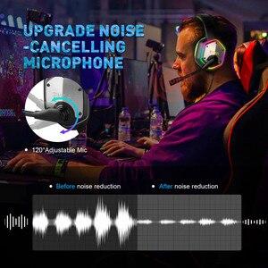Image 4 - Eksa e1000 jogos fones de ouvido com cancelamento de ruído microfone rgb luz 7.1 surround som com fio gaming headset gamer para ps4 pc