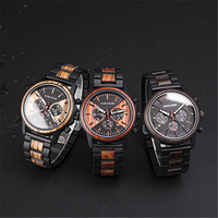 DODO DEER Wooden Men Watches Relogio Masculino Top Brand Luxury Stylish Chronograph Military Wooden Watch Gift for Man OEM C09