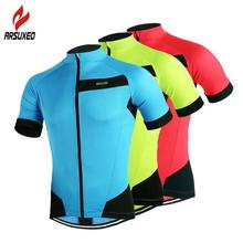 цена на ARSUXEO Men Outdoor Sports Cycling Jersey Quick-Dry Bicycle MTB Road Bike Cycle Clothing Short Sleeve Shirts Tops Sportswear