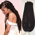 "18"" Havana Mambo Faux Locs Braids 20 Strands Crochet Dreadlock Braids Hair Extensions Softex Spiral Hollow Crochet Twist Braids"