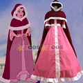 Beauty and Beast Belle cosplay costume Belle pink dress red cloak Snow grow princess Halloween costumes for adult women