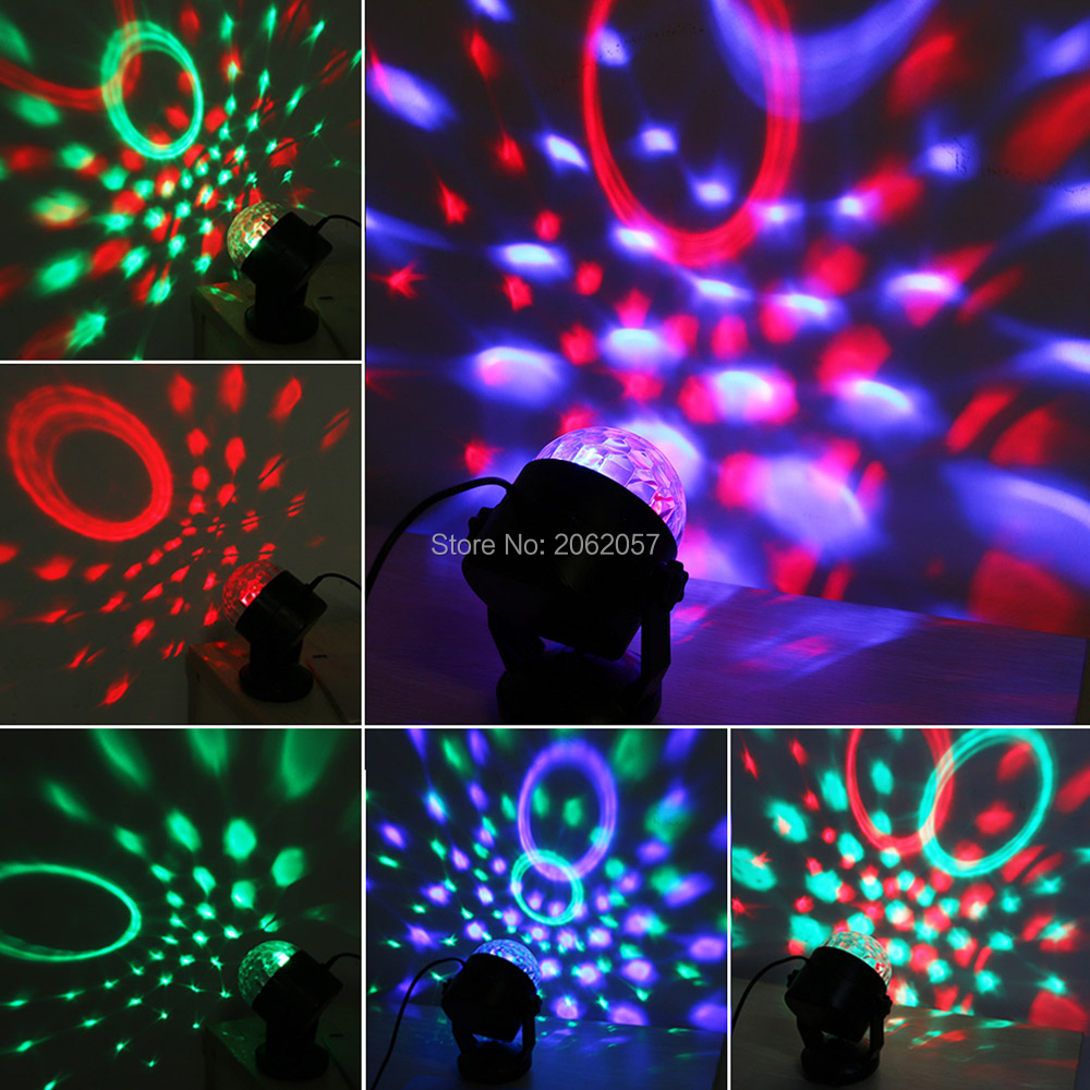 5W 4colors remote control RGBP crystal magic ball soundlights DJ disco party music ball light projector stage effect lighting