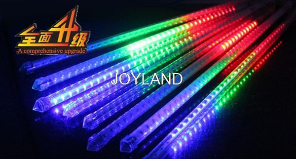 Free shipping 10pcs 72LED SMD5050 DC 12V Meteor Tube 50cm Two-sided Meteor Shower Light for Holiday Decoration