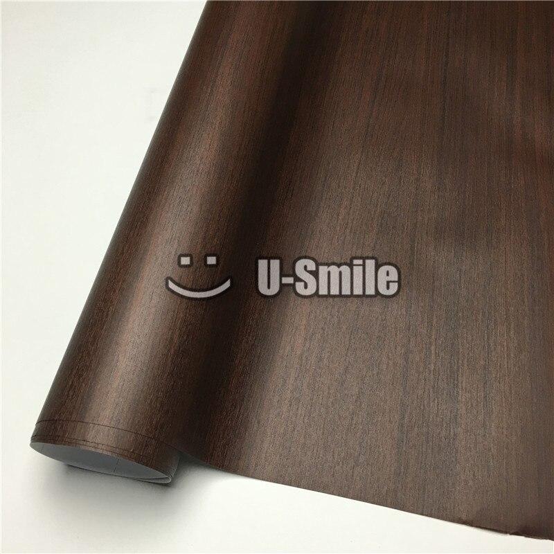 Bricolage voiture autocollant chêne bois Grain vinyle Film pour mur meubles voiture taille intérieure: 1.24X50 m/rouleau