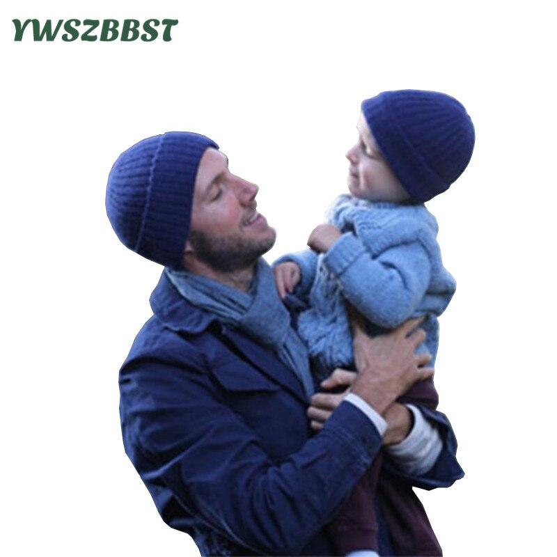 2pcs Mom Baby Hat for Boys Knitted Baby Caps for Girls Toddler Crochet Beanies Caps Cute Kids Children Hats
