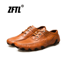 ZFTL New Mens Casual shoes mens loafers Business octopus male driving England peas soft leather  032