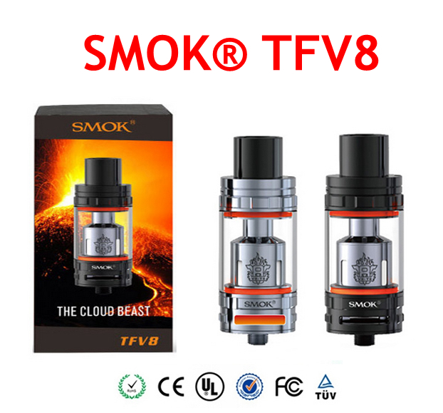 Original SMOK TFV8 Atomizer 6 0ml TFV8 Cloud Beast Tank With V8 T8 V8 Q4 Coil