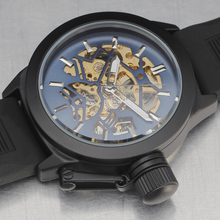 Casual Sport Watches SEWOR Brand Skeleton Mechanical Watch Men Automatic Rubber Band Relogio Masculino Stylish Crown Clock Reloj