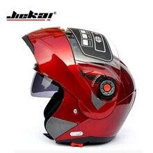 Jiekai с Внутренней Солнцезащитный Козырек двойной линзы Мотоциклетный Шлем capacete мотоциклов Поднимите Вверх шлем мужчины женщины полный шлем