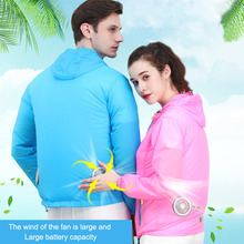 Air conditioning Jackets Summer Thin Breathable Cooling Fan Clothes Couples Outdoor Anti-heat Fishing Working Fan Clothing new air conditioning vest outdoor fishing photographic cooling clothes wear resistant anti uv radiation protection breathable
