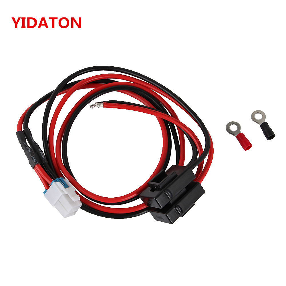YIDATON 1.5m 4 Pins Short Wave Radio Power Supply Cord Cable For IC-7000 IC-7600/FT-450/TS-480 FT-991 FT-950 NO COPPE 2way Radio