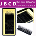 All Size,7~15mm MIX In One Tray ,20rows/Tray, Mink Eyelash Extension,Natural Eyelashes,Individual False Eyelash