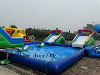 Commercial Inflatable Water Slide With Water Pool For Rental Big Inflatable Slide Inflatable Slide For Pool