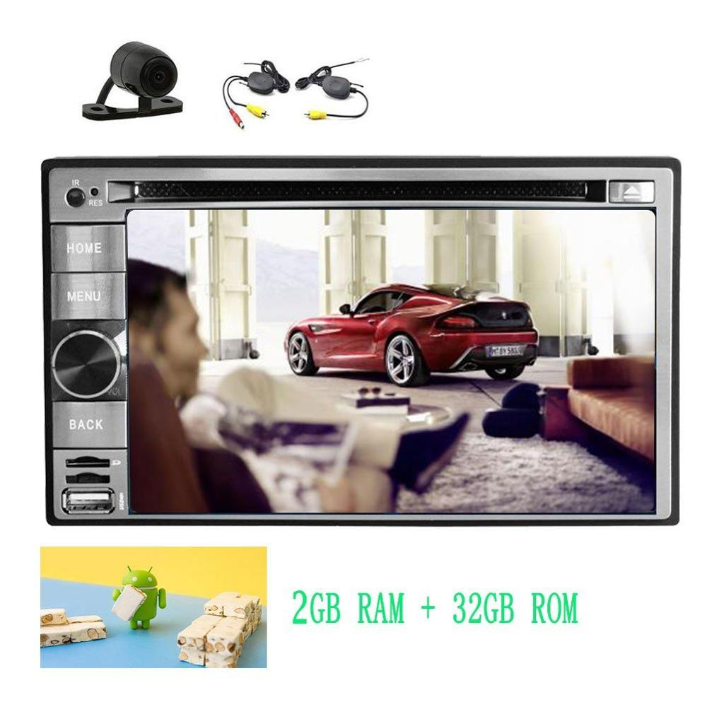 Android 7.1 Dashboard Car DVD Player Stereo Entertainment Bluetooth Mirrorlink OBD2 FM/AM Radio Deck GPS +Wireless Rear Camera