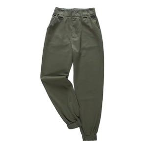 Image 2 - 2019 Moda Kadın Ordu Yeşil Pantolon Yüksek Bel Pantolon Joggers Kadınlar Kargo Pantolon Kadın Ayak Bileği Uzunluğu Pantolon Kadın Pantolon