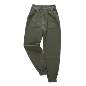Image 2 - 2020 Chic Women Army Green Pants High Waist Trousers Joggers Women Cardo Pants Women Ankle Length Pants Female Trousers