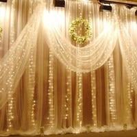 White 300LED US standard plug L5012 LED holiday lights LED holiday decoration light curtain light
