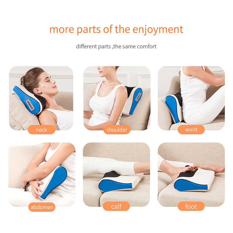 Kızılötesi ısıtma boyun omuz geri vücut elektrikli masaj yastığı Shiatsu masaj cihazı servikal sağlıklı Massageador gevşeme