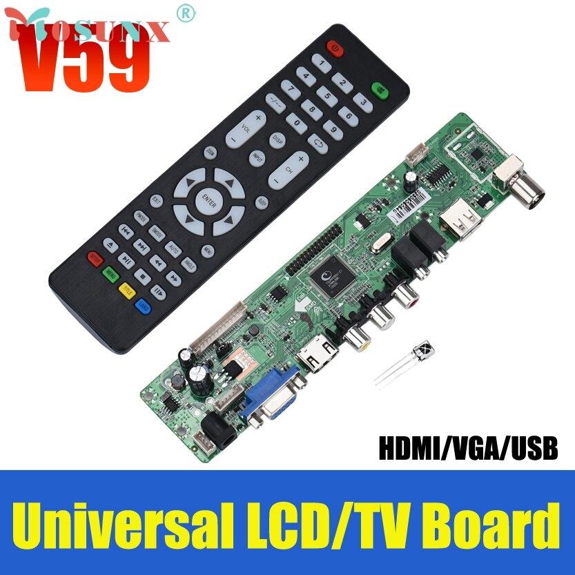 Del V59 Universal LCD TV Controller Driver Board PC/VGA/HDMI/USB Interface May09 Dropship high quality v56 upgrade v59 universal lcd tv controller driver board pc vga hdmi usb interface