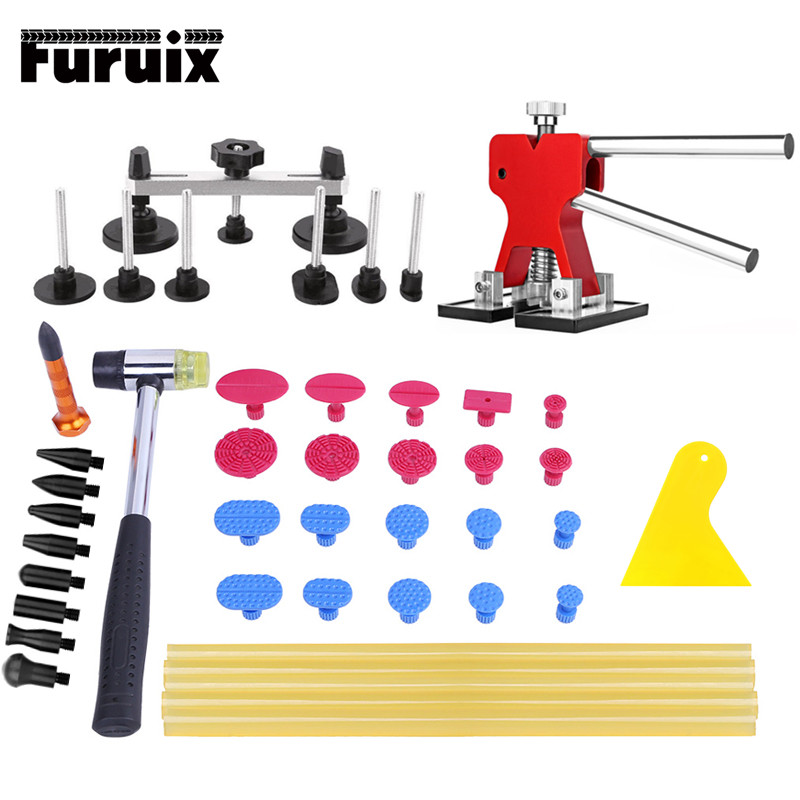PDR Tools Dent Removal Auto Repair Tools Paintless Dent Repair Tools Dent Lifter Bridge Puller Suction Cups For Dent Top Quality pdr tools paintless dent repair car repair tool set dent removal mini lifter bridge puller glue tabs fungi suction cups for dent