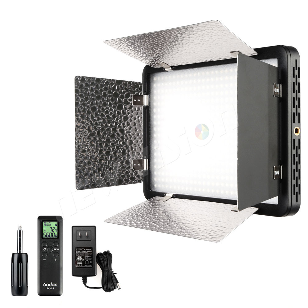 Godox LED500LRC 3300K-5600K LED Video Continuous Light Lamp Panel Reflector & Remote godox professional led video light
