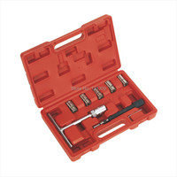 7PC Cleaner Carbon Cutting Tool Diesel Injector Seat Cutter Set