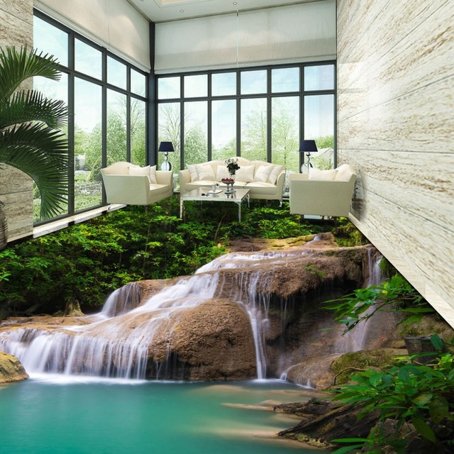 Newest Dot Design Drawing 3d Room Wallpaper Hd Natural Waterfall Waterpro 3d Floor Mural Wallpaper Custom